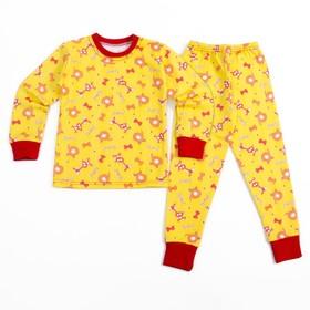 Пижама для девочки, рост 92 см, цвет жёлтый 027