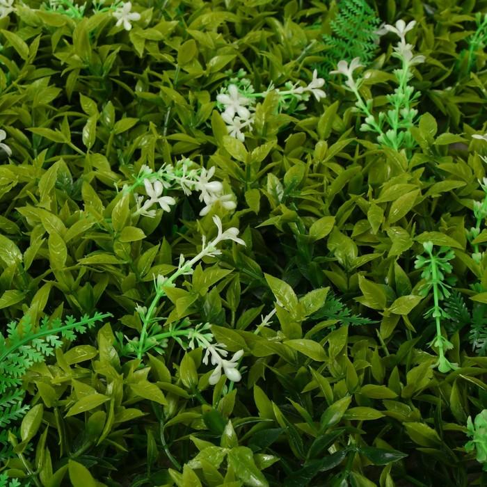 Greengo Газон-коврик искусственный, 40 х 60 см, «Белые цветы» 2635874