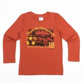 """Джемпер детский """"Футбол"""", рост 128 см, цвет оранжевый ФП-021"""