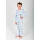 Комплект для мальчика (джемпер, брюки) Полоса цвет голубой, р-р 40