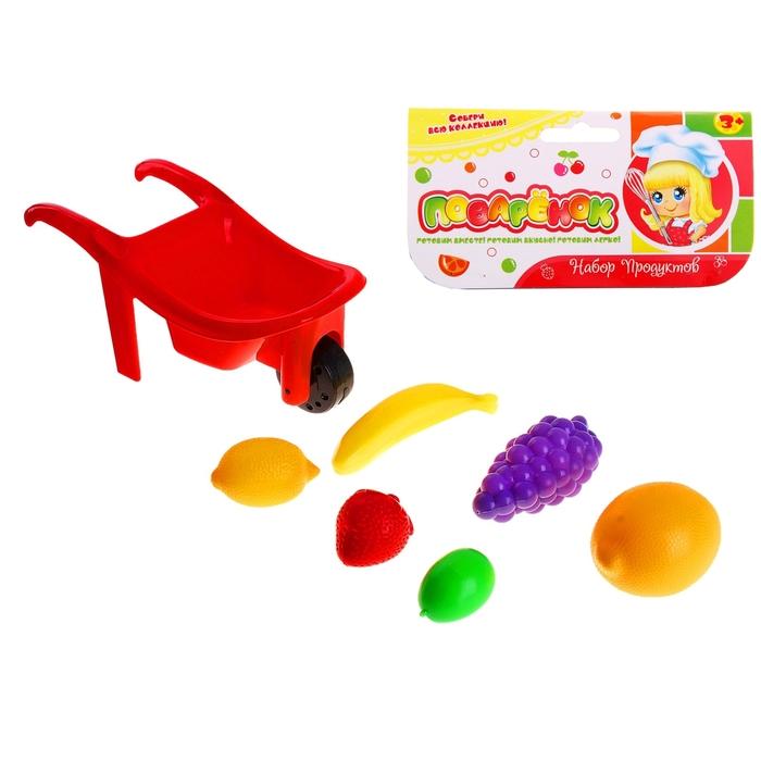 Набор продуктов в тележке, 7 предметов