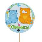 """Топпер - открытка """"Улыбнись!"""" коты"""