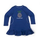 Платье для девочки, рост 98-104 см, цвет синий 1008п-24
