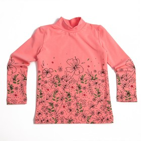 Водолазка для девочки, рост 92 см, цвет розовый 6135_М