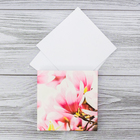"""Футляр с бумажным блоком для записей """"Розовые цветы"""""""
