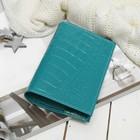 Обложка д/паспорта п115к-72 Textura, 9,5*0,3*13,5, 5карманов д/карт, кайман бирюза