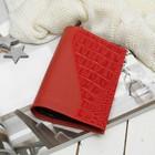 Обложка д/паспорта 11-04-113 Textura, 9,5*0,3*13,7см, флотер красный