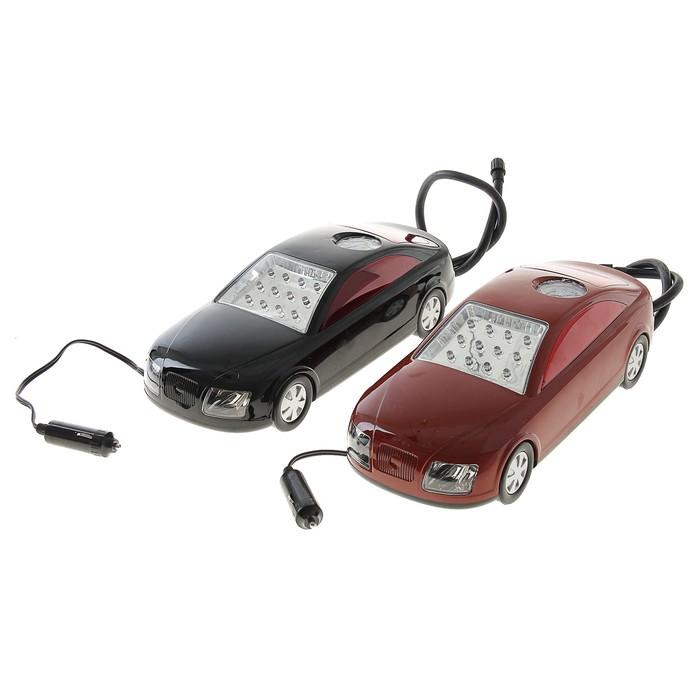 Компрессор автомобильный Avto с LED-фонарём, 25л/мин, микс
