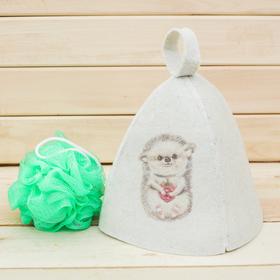 Детский банный набор: шапка и мочалка 'Моему ёжику' Ош