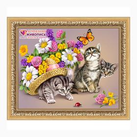 Картина стразами '3 котёнка' Ош