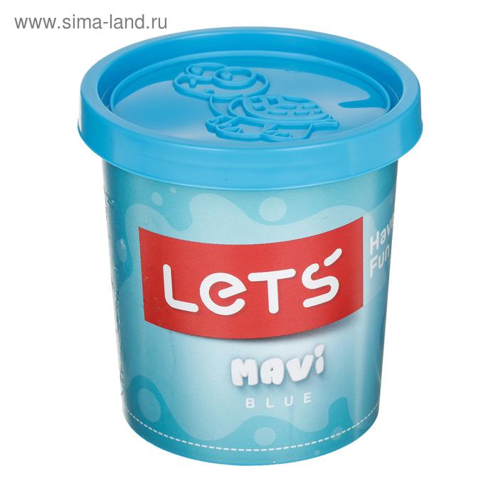 Тесто для лепки 150 гр, крышка-форма, цвет голубой LETS