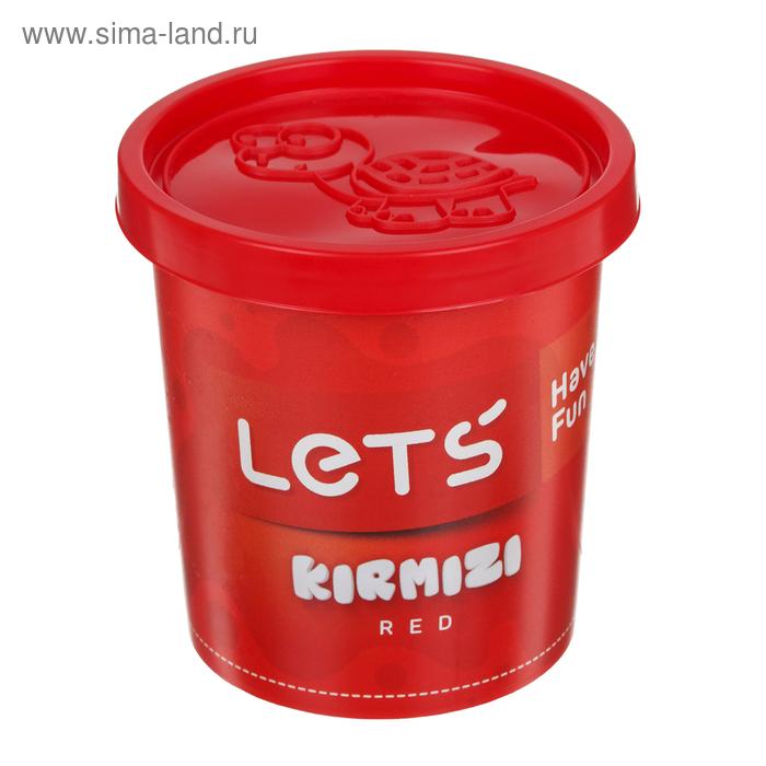 Тесто для лепки 150 гр, крышка-форма, цвет красный LETS