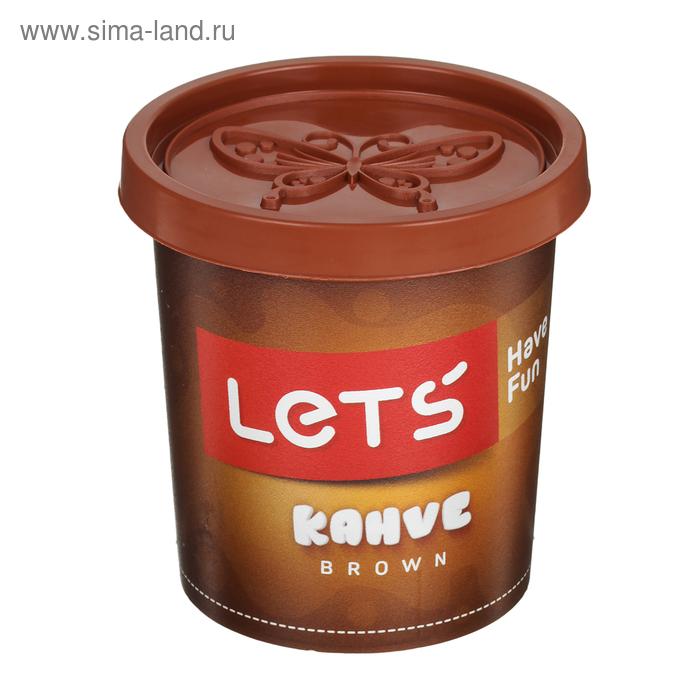 Тесто для лепки 150 гр, крышка-форма, цвет коричневый LETS