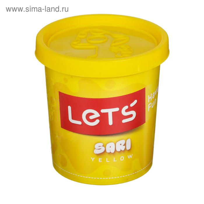 Тесто для лепки 150 гр, крышка-форма, цвет желтый LETS