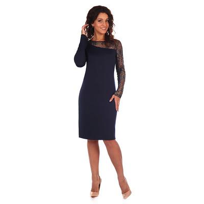 Платье женское Венера цвет тёмно-синий, р-р 48