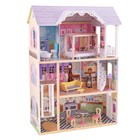 """Трёхэтажный дом из дерева для Барби """"Кайли"""", 10 предметов мебели"""