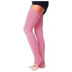 Гетры для танцев №5, без носка и пятки, L= 80 см, цвет розовый