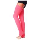 Гетры для танцев №5, без носка и пятки, L=70 см, цвет коралловый