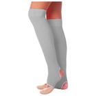Гетры для танцев №5, без носка и пятки, L=50 см, цвет серый