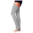 Гетры для танцев №5, без носка и пятки, L= 70 см, цвет серый