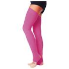 Гетры для танцев №5, без носка и пятки, L=80 см, цвет фуксия