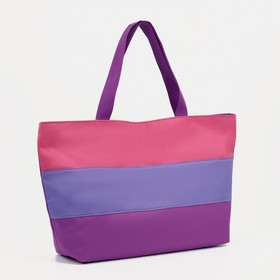 Сумка пляжная на молнии Bagamas, 1 отдел, цвет баклажан/сиреневый/розовый Ош