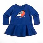 """Платье для девочки """"Снегирь"""", рост 104 см, цвет синий Fwg-17-1"""
