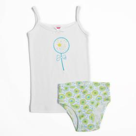Комплект для девочки (майка,трусы), рост 110-116 см, цвет салатовый CAK 3434