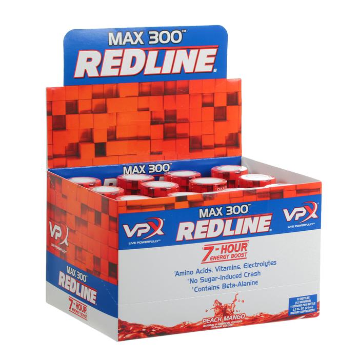 Энергетический напиток Redline MAX 300 7-Hour, Energy Shot, 74 мл, Peach Mango, Персик и манго