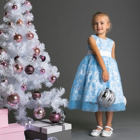 Нарядное платье для девочки, рост 104 (56) см, цвет голубой 8134