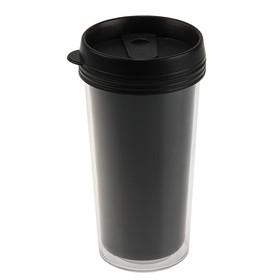 Термостакан под полиграфическую вставку, 0.45 л, чёрный