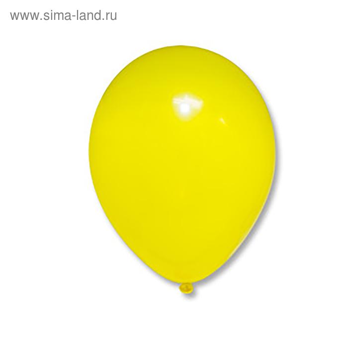 "Шар латексный 10"" Пастель желтый 500 шт. G"