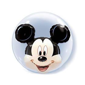 """Шар полимерный 22"""" """"BUBBLE  Инсайдер Disney Микки Маус"""",  шар в шаре, 2 ш Q"""