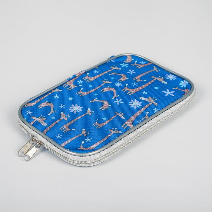 Сумка для вязальных инструментов, вязальных крючков, 14*24*2см, орнамент жирафы
