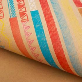 Бумага крафт «Цветные полоски», 50 х 70 см. Ош