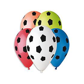 """Шар латексный 12"""" Мяч футболный стилизованный, набор 50 шт, МИКС"""