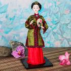 """Кукла коллекционная """"Китаянка в национальном платье с веером"""" 28х12,5х12,5 см"""