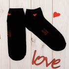 """Носки женские короткие Collorista """"Love"""", черн. р-р 23-25, хл 80%, п/а 17%, эла 3%"""