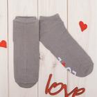 """Носки женские короткие Collorista """"Love"""", сер. р-р 23-25, хл 80%, п/а 17%, эл 3%"""