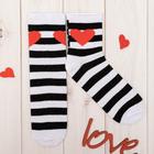 """Носки женские Collorista """"Love"""", в полоску, р-р 23-25, хл 80%, п/а 17%, эл 3%"""