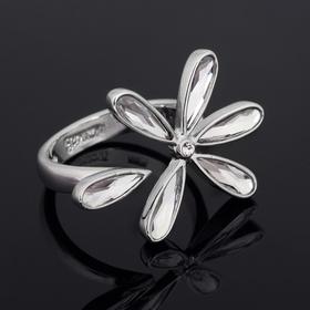 """Кольцо """"Инканто"""", цвет белый в серебре, размер 19"""