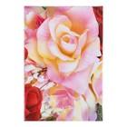 """Блокнот А7, 70 листов на клею """"Дорожки из роз"""", твердая обложка, глянцевая ламинация"""