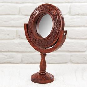 """Зеркало дерево """"Резное"""" 8,5х17х27 см"""