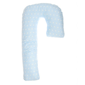 Подушка J (Зонтик) 140*80см, диз.звезды на голубом., бязь 125г/м, хл100%