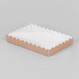 Коробочка для печенья, крафт, 22 х 15 х 3 см Ош