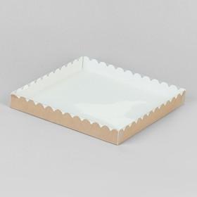 Коробочка для печенья, крафт 25 х 25 х 3 см Ош
