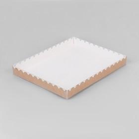 Коробочка для печенья, крафт 23,5 х 30 х 3 см Ош
