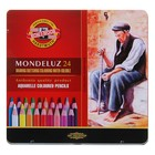 Карандаши акварельные K-I-N 3724/24 Mondeluz, 24 цвета, в металлическом пенале