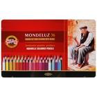 Карандаши акварельные K-I-N 3725/36 Mondeluz, 36 цветов, в металлическом пенале