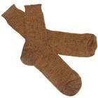 Носки из шерстяной пряжи (верблюжья) с добавлением химических волокон, размер 25